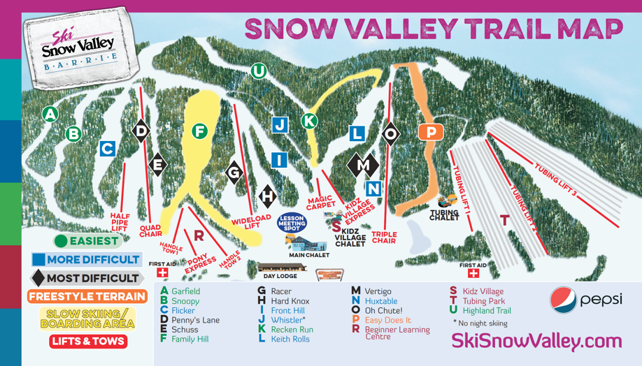 Welcome to the Snow Valley eShop. Snow Valley Barrie is Ontario's favorite family resort. A Snow Valley Season Pass is more than just about the great skiing and riding - it's about celebrating the winter season, making lasting memories and re-connecting with family and friends!