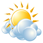 Sunny to partly cloudy and pleasant