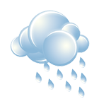 On-and-off rain and drizzle in the morning; otherwise, a thick cloud cover and not as cool